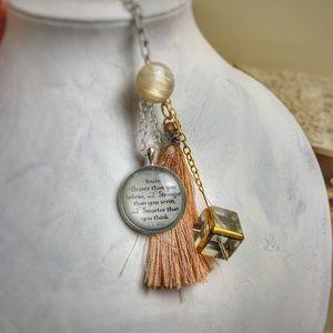 Accessories - 🔴 Must go! Peach Silk Tassel Gold Keychain